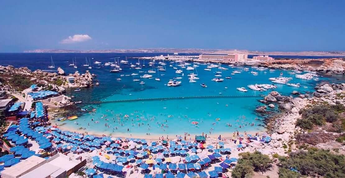 Гид на Мальте - Известные пляжные курорты Мальты